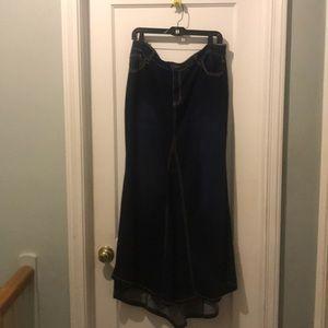 Ashley Stewart denim skirt